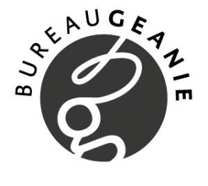 logo Bureau Geanie (ontwerp Marleen Zoon)