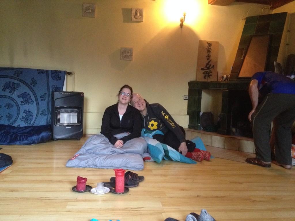 in de yogaruimte